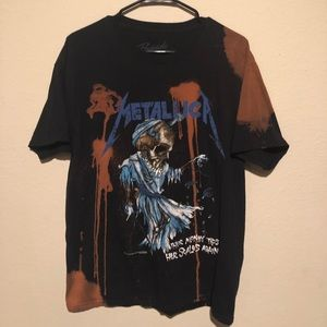 Bleached Metallica shirt from Urban Outfitters